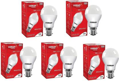 EVEREADY 5 W Standard B22 LED Bulb