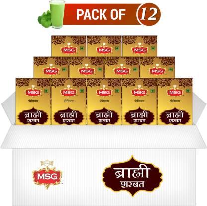 MSG Premium Brahmi Badam Sharbat (Full Box,Pack of 12)