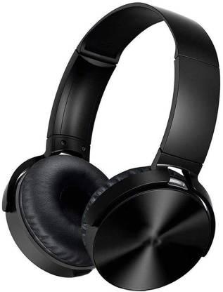 Raptech BT450 Extra bass Headphones Over The Ear Headset with Deep bass Bluetooth Headset(Black, True Wireless)