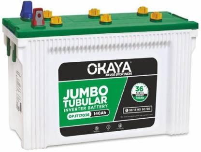 Okaya OPJT17036 Tubular Inverter Battery