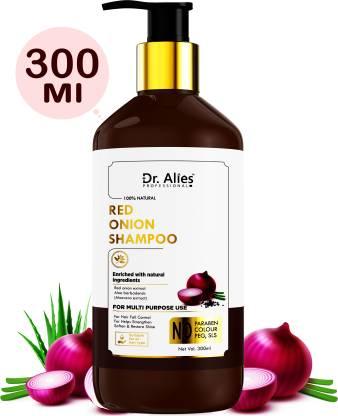 Dr. Alies Professional Onion Shampoo For Hair Fall Control & Hair Growth   Suitable for All Type Hair   SLS & Parabens Free   Anti Hairfall Shampoo For Men & Women, (300 ml)