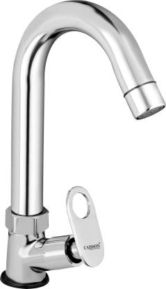 Caisson Brass Max Swan Neck Taps for Sink/wash basin 360 Degree Moving, Chrome Finish Pillar Tap Faucet
