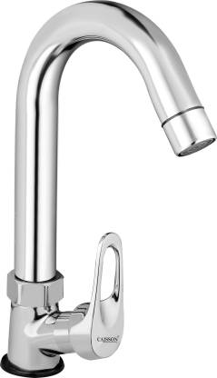 Caisson Brass Ocean Swan Neck Taps for Sink/wash basin 360 Degree Moving, Chrome Finish Pillar Tap Faucet