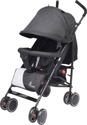 R for Rabbit Twinkle Twinkle Baby Stroller - The Compact Folding Baby Stroller and Pram (Black Grey) Stroller
