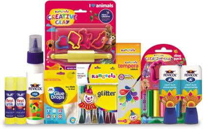 Fevicreate Activity Kit All-In-One DIY Craft Set for Kids from 5-14 Years