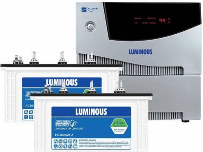 LUMINOUS Cruze 2KVAInverterwith PC 18042TJ 150AH Tubular Battery (2 Batteries) Tubular Inverter Battery