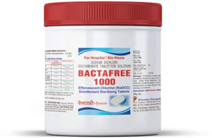 BACTAFREE 1000 Water Purification Tablets - Disinfectant tablet for Overhead and Underground Water Tank - 1 Tablet Purifies 1000 liters Water, 150 tablets - (Pack of 1)