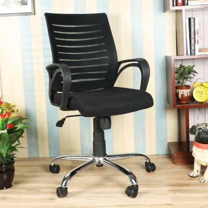 DZYN FURNITURES Cotizada Ergonomic Medium Back Linen, Fabric Office Executive Chair