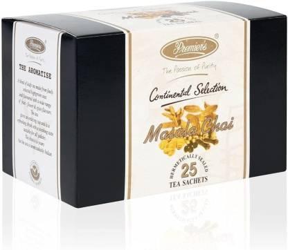 Premiers Masala Chai   25 Cups   50 Grams   Tea Bags Spices Masala Tea Bags Box