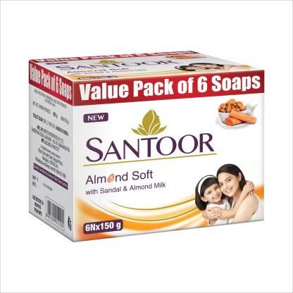 santoor Sandal & Almond Milk Soap