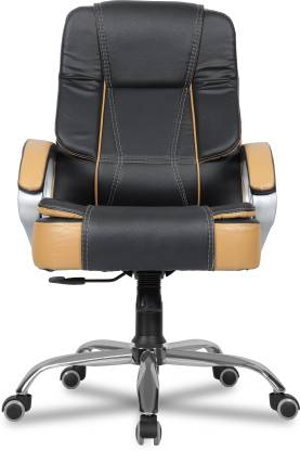 GREEN SOUL Vienna Mid-Back Office Chair (Black Tan) Leatherette Office Executive Chair