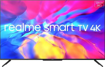 realme 126 cm (50 inch) Ultra HD (4K) LED Smart Android TV with Handsfree Voice Search and Dolby Vision & Atmos