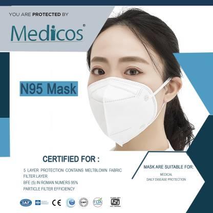 MediCos N95 / KN95 FFP2 5 Layer Reusable Anti - Pollution , Anti - Virus Breathable Face Mask N95 Washable GV601 Water Resistant Water Resistant, Reusable, Washable