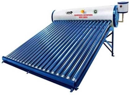 MANDHATA INVENTIONS 200 L Storage Water Geyser (200 LPD GI ETC, Blue)