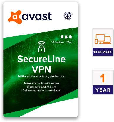 Avast 10 PC 1 Year VPN Security (Email Delivery - No CD)