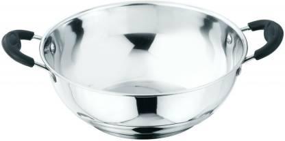 Kitchen Essentials Stainless Steel Kadhai 20 cm diameter 2 L capacity