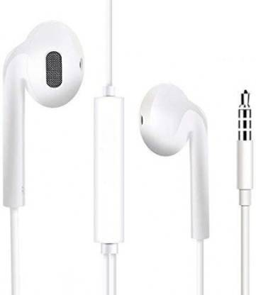VIVAAN TECH High Bass Earphones Noise Isolating White 1103 Wired Headset
