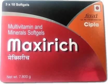 Maxirich Multivitamins and Minerals Softgel capsules