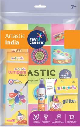 Fevicreate Art Kit-Artastic India, Art & Craft Project Kit, DIY Kit for Return Gift