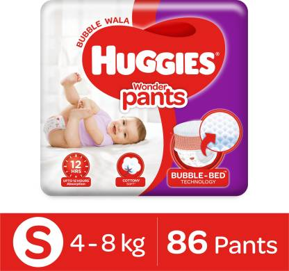 Huggies Wonder Pants with Bubble Bed Technology - S