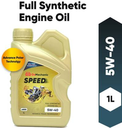 GoMechanic Speed 5W40 API SN+ Advance Polar Technology High Performance Longer Protection Full Synthetic Engine Oil For All Passenger Cars Full-Synthetic Engine Oil