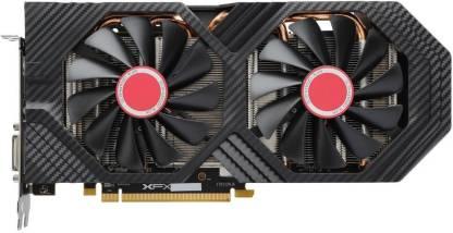 XFX Radeon AMD/ATI XFXRadeonRX580GTSBlackEdition 1405 MHz OC+, 8GB 256-bit GDDR5, DX12 VR Ready, Double Dissipation, Dual BIOS, PCI-E AMD Graphics Card (RX580P8DFD6) 8 GB DDR5 Graphics Card