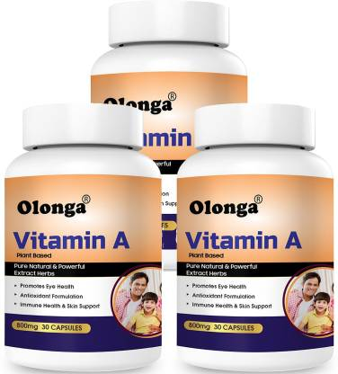 Olonga Vitamin A For Eye Health Immune Booster and Antioxidant With Natural Provitamin A.