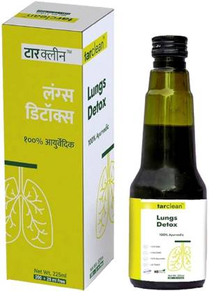 Le-vanza Food & Herbals Tar Clean - Lungs Detox | Ayurvedic Syrup For Tar & Pollution Toxins | Sugar Free Respiratory Health | Cough | Breathlessness