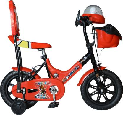 FOUR DIAMONDS Sports 12inch Tubeless Music & Light Cycle for Kids (Semi-Assembled) 12 T BMX Cycle