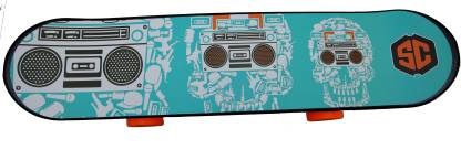 """Smartcraft Fiber Skateboard Specially Designed with a pro Pattern and Length of 27"""" X 6.5"""" Width (Retro Radio) 6.5 inch x 6 inch Skateboard"""