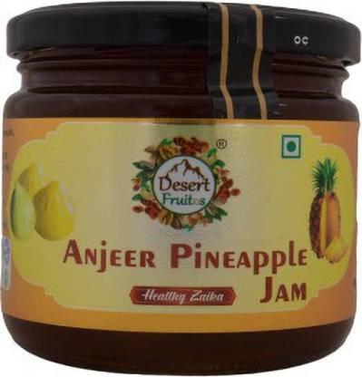 Desert Fruitos Natural Fresh Anjeer Pineapple Jam 400 g