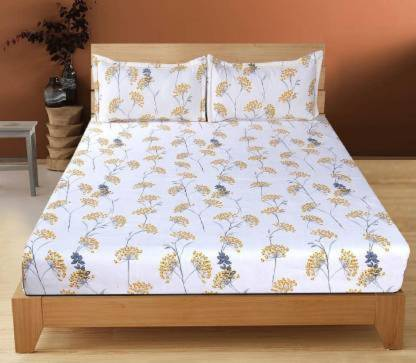 Decor Home 180 TC Microfiber Double Floral Bedsheet