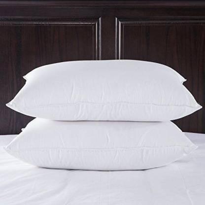 Noktok Print Microfibre Solid Sleeping Pillow Pack of 2