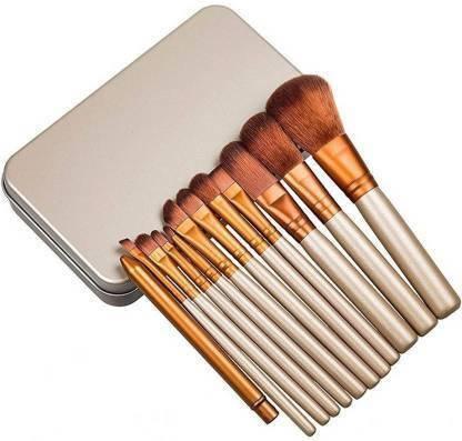 KASCN Makeup Brush Set (12 Pcs) in Tin Box