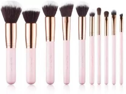 KASCN Pink Makeup Brushes Professional Makeup Brush Set (Pack of 10)