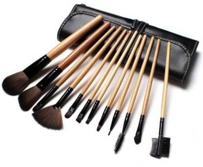 KASCN Beauty Foundation Brush set and Mineral Powder Brush set 24 Pcs with PU leather bag.