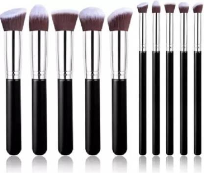 KASCN Makeup Brush Set (black) (Pack of 10)