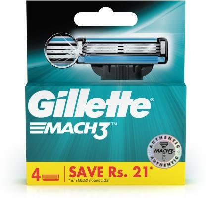 GILLETTE Mach3 Shaving 3-Bladed Cartridges