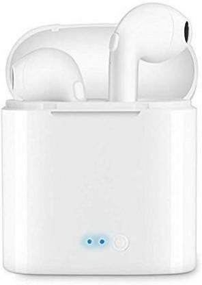 GadgetX Bluetooth Headphone with Mic (White, True Wireless) Bluetooth Headset