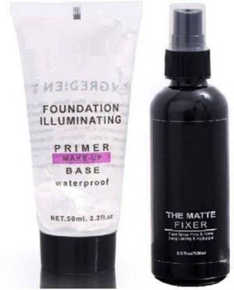 KASCN Most Beautiful Trending Fixer combo with Primer Foundation Luxury Primer