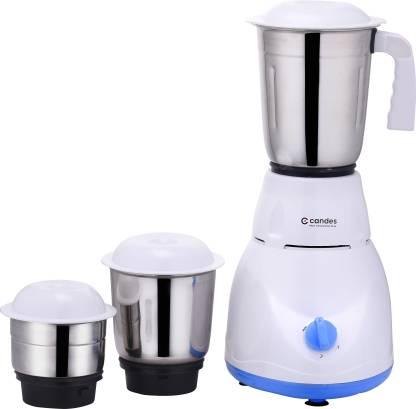 Candes Imperial Mixer Grinder 550 Mixer Grinder (3 Jars, White, Blue)