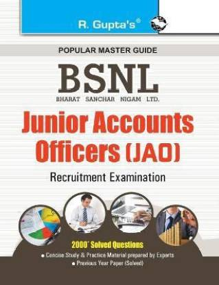 BSNL Junior Accounts Officers (JAO) Recruitment Exam Guide 2021 Edition
