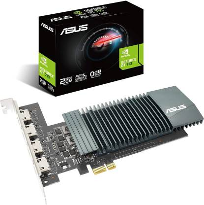 ASUS NVIDIA NVIDIA GeForce GT 710 Graphics Card (PCIe 2.0, 2GB GDDR5 Memory, 4X HDMI Ports, Single-Slot Design, Passive Cooling) 2 GB GDDR5 Graphics Card