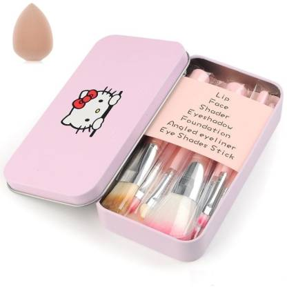KASCN BEAUTY PINK BRUSH HIGH QUALITY MAKEUP BRUSH WITH SPONGE PUFF