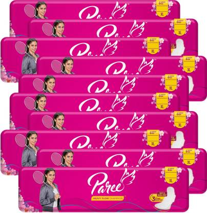 Paree Super Soft & Dry Feel 6 XL Sanitary Pads For Quick Absorb (Combo of 10) Sanitary Pad