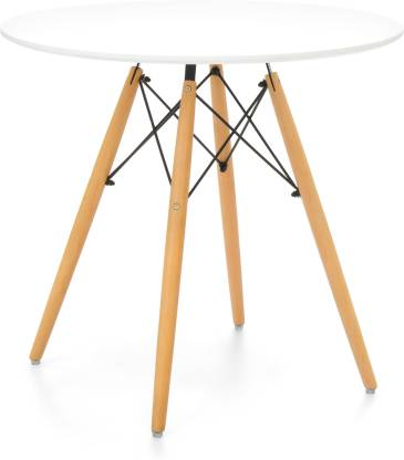 Round Dining Mdf Table Top Wood Legs, Round Mid Century Modern Dining Table