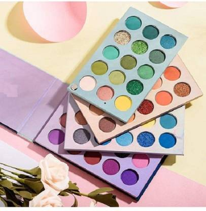 KASCN Beauty Glazed COLOR BOARD Highly Pigmented Eyeshadow 60 Colors Makeup Mattes Shimmers Naked Smokey Glitter Cream Colorful Powder Blendable Long Lasting Waterproof Eye Shadow Palette 110 g