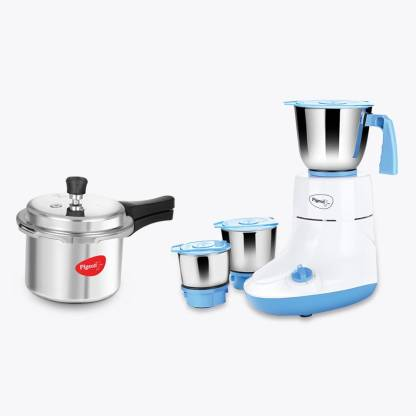 Pigeon Glory 550 W Mixer Grinder (Multicolor, 3 Jars) with IB 3 Ltr Pressure Cooker Special Combo
