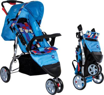 MeeMee Easy to Push Baby Pram with 3 seating position (Blue) Pram