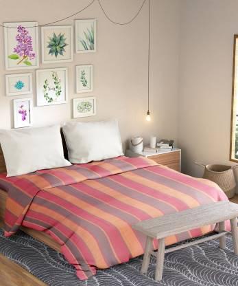 Manjusha 250 TC Cotton Single Striped Bedsheet